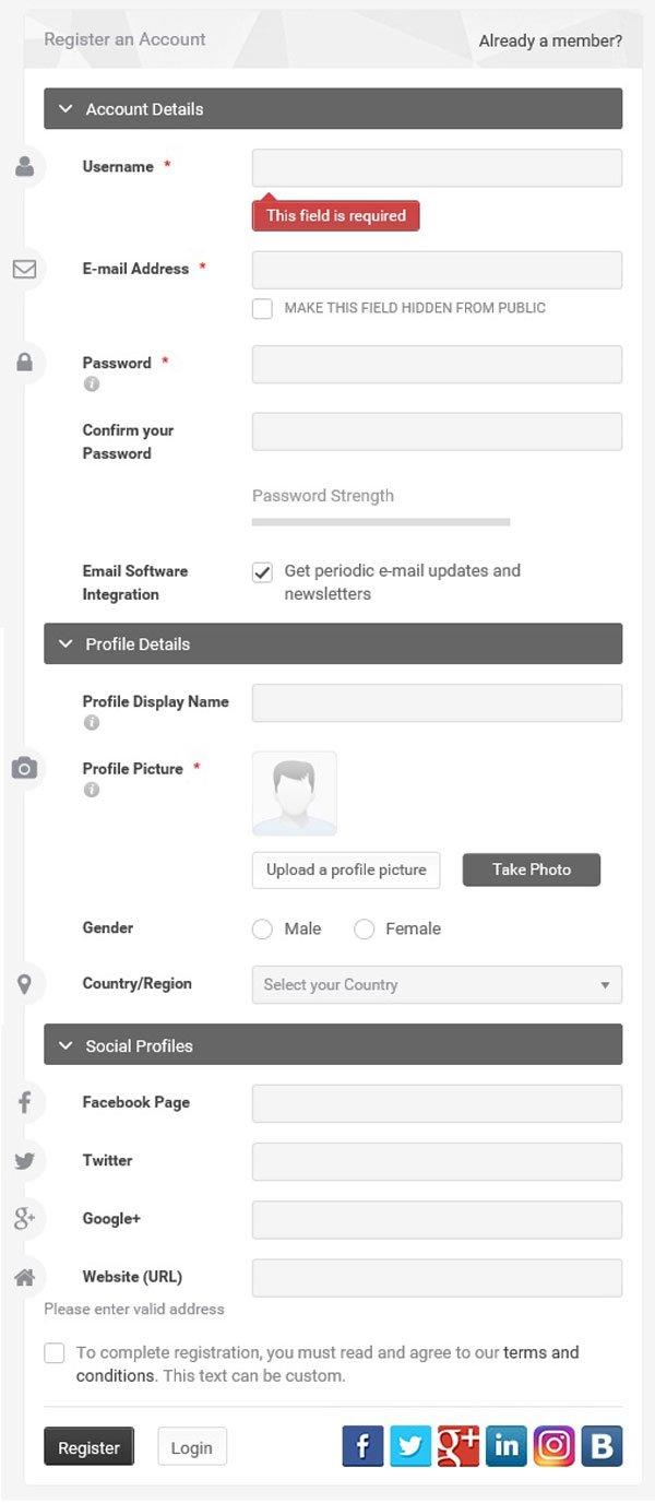 افزونه حرفه ای عضویت و پروفایل کاربری UserPro