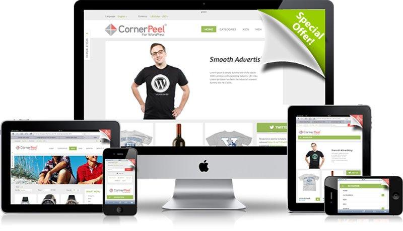 افزونه تبلیغات گوشه ای وردپرس Corner Peel