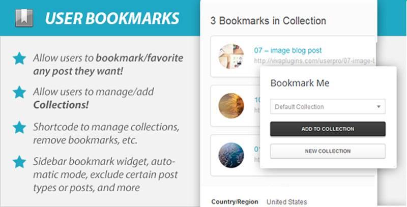 افزودنی بوکمارک مطالب WordPress User Bookmarks ForR UserPro