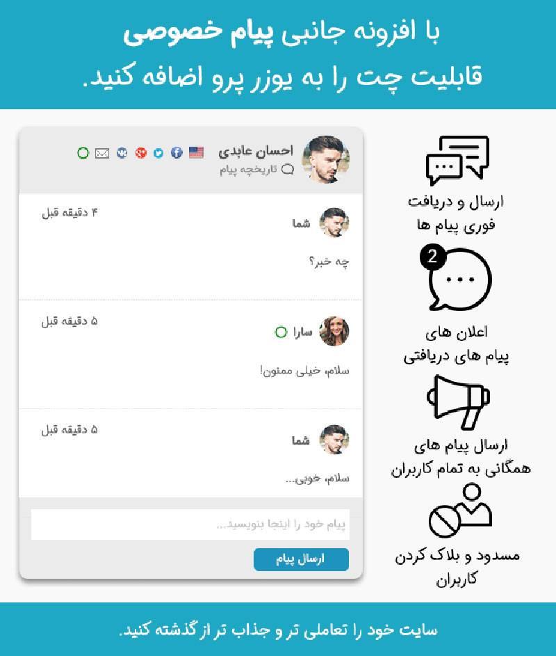 افزودنی پیام خصوصی یوزر پرو UserPro Private Messages