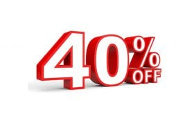 تخفیف 40 درصدی همه محصولات سایت